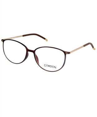 Cardon Transparent Brown Oval Full Rim EyeFrame