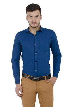 Baluchi Solid Regular Full Sleeve Linnen Blue Formal Shirt $ BLC_MNSHIRT_05
