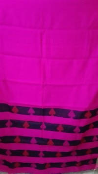 Festive Buzz Pink & Blue Cotton Handloom Sarees $ 1439