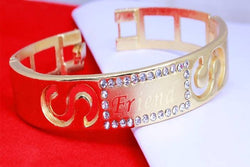 Gold Plated American Diamond Diamond S Friend Women's Bracelate for men $ AC0023