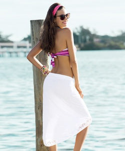 Garotas Beach Knee Length Skirt