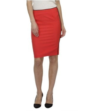 Glam a gal red kneelength skirt