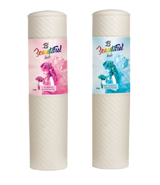 BEAUTIFUL TALC LAURING MESMERIC for Women - (Set of 2) (250gm each)