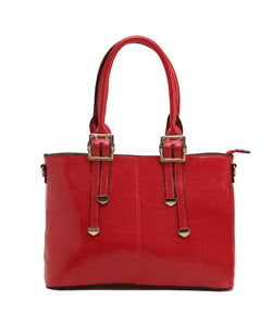 Fiona Trends Red PU Shoulder Bag,100_RED