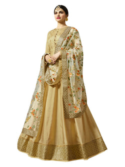 YOYO Fashion Designer Chennai Silk Semi-stitched Fancy Party Wear Anarkali Salwar Suit $ F1218