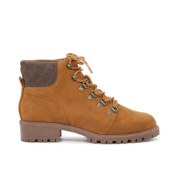 London Rag Women's Tan Laceup Boots-SH1605TAN