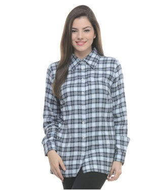 ENTEASE BLUE COTTON SHIRT