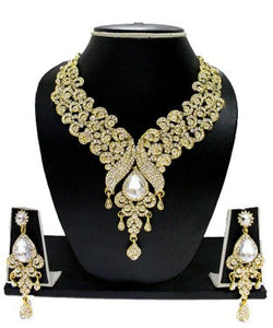 Zaveri pearls gold necklace with earring