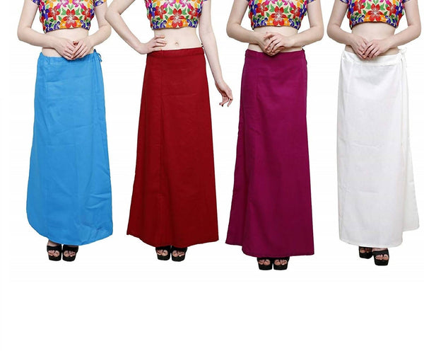 MY TRUST Cotton Multi Color Color Saree Petticoats $ PD-8