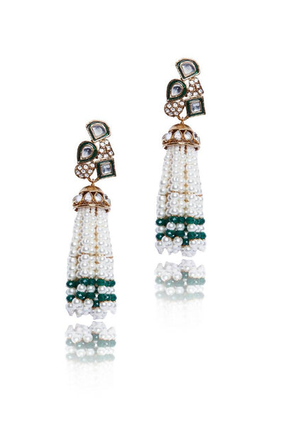 Bauble Burst Pearl Jhallar Earrings