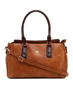 Fiona Trends Brown PU Shoulder Bag,104_BROWN