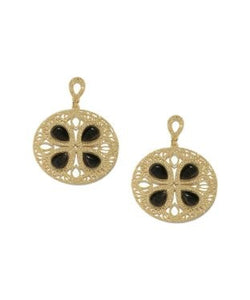 Golden Peacock Circular Shaped Cat Eye Stone Earring