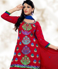 Cotton Blend Suit with Dupatta