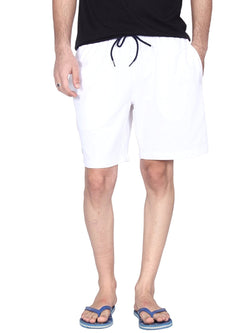 Hammock Solid Mens Sports Shorts - White-H20F01J501OS