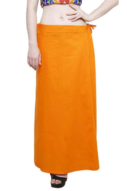 MY TRUST Cotton Orange Color Saree Petticoats $ PT-5