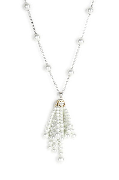 Pearl Shower Long Necklace - JGFCNEC0811