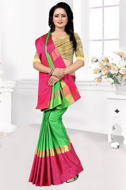 YOYO Fashion Latest Fancy Kangi Ora Green Saree $ SARI2579 Green