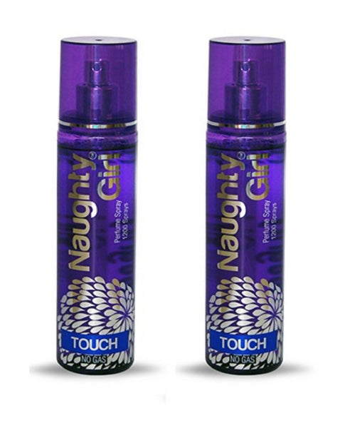 Naughty Girl TOUCH Perfume Spray for Women- Pack of 2 (135ml each)