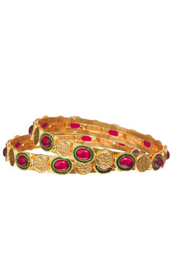 Bauble Burst Ruby Connect Bangle Set