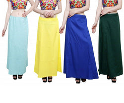 MY TRUST Cotton Multi Color Color Saree Petticoats $ PD-5