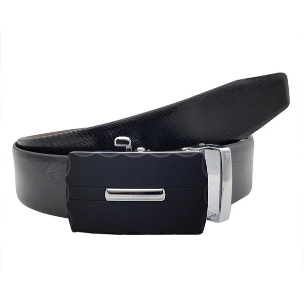 Baluchi's Melony Textured Formal Reversible Leather Belt with Auto lock Buckle $ BLC_LMAUTORV_10