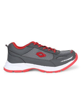 KACEY Dark Grey & Red EVA Sole Sports Shoes