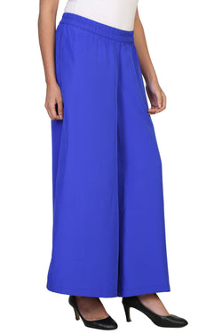 Vaniya Women Trouser Crepe Light Blue Solid Plazo $ VN-P104