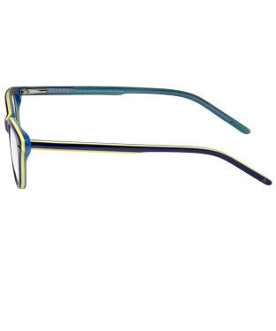 David Blake Blue Yellow Cateye Full Rim EyeFrame