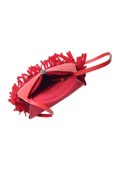 Bauble Burst Red Fringe Bag