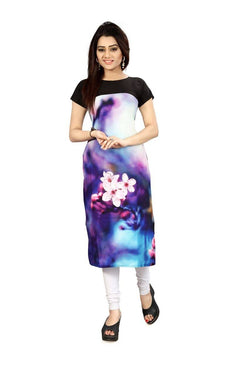 Manvi Fashion Women's Designer Partywear Multi Color American Crepe Fabric Digital Printed Readymade Kurti $ MF 2828