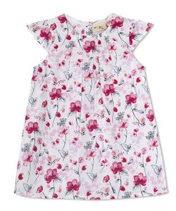 Budding Bees Girls Infant Red Floral A-Line Dress