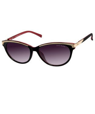 David Blake Grey Cateye Gradient, UV Protected, Mirrored Sunglass