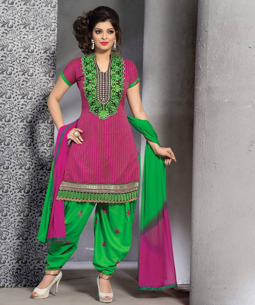 Unstitched suit with dupatta AW_100000648663
