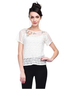 Pallavi Mohan Off White S/S Top
