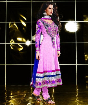 Jacquard Suit With Dupatta