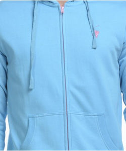 Westbrook Polo Club Sky Blue F/S Hooded Sweatshirt With Zipper