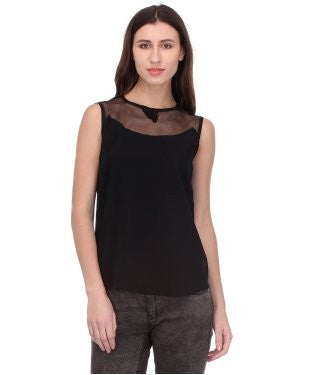 Glam a gal black s/l top