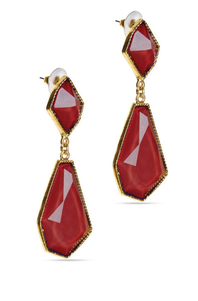 Bauble Burst Magic Maroon Drop Earrings