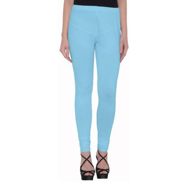 Amihgo Women's Light Blue Churidar Cotton Legging-Free Size-MAH40016
