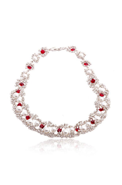 Jazzy Ruby Necklace - JIDMNEC4104
