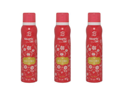 Naughty Girl WILD FLOWER Deodorant for Women- Pack of 3 (150ml each)