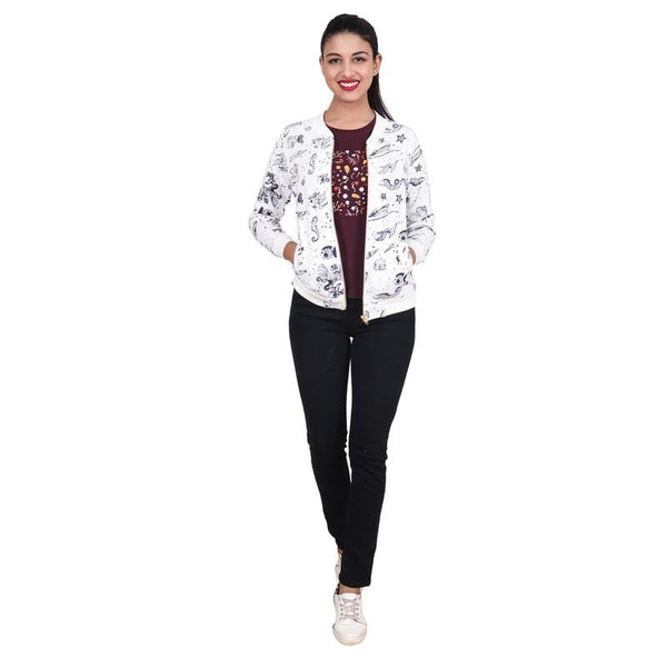 Second Half Fish Print Fleece Jacket-SH0047