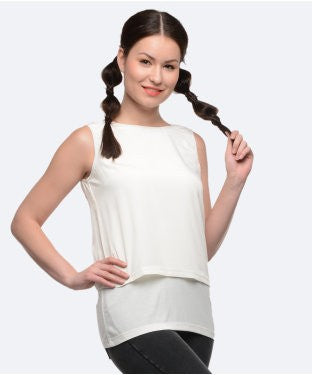 United Colors Of Benetton Offwhite S/L Top