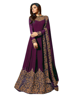 YOYO Fashion  Latest Fancy Semi-stitched Faux Georgette Embroidered Anarkali Salwar Suit $ F1220