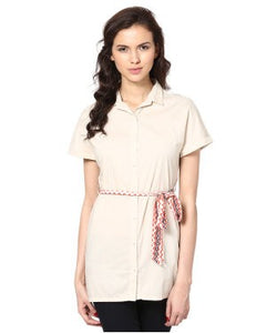American Swan Off White Tunic