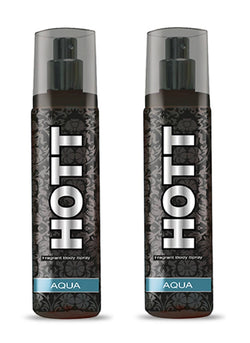 HOTT AQUA Perfume Spray for Men Pack of 2 (135ml each)