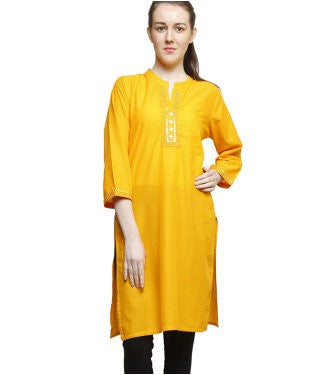 Lee Marc Women's Yellow Kurti
