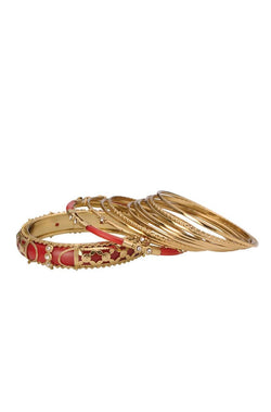 Royal Red Bangles Stack-S2.8 - JPOUWRI9748S2.8