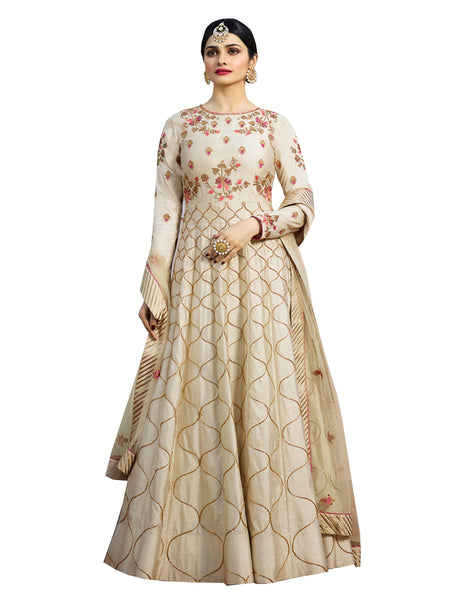 YOYO Fashion Designer Chennai Silk Semi-stitched Fancy Party Wear Anarkali Salwar Suit $yo- F1217