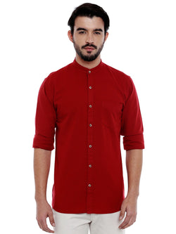 Roller Fashions Men's Solid Casual Red Shirt $ C3SW0R-P